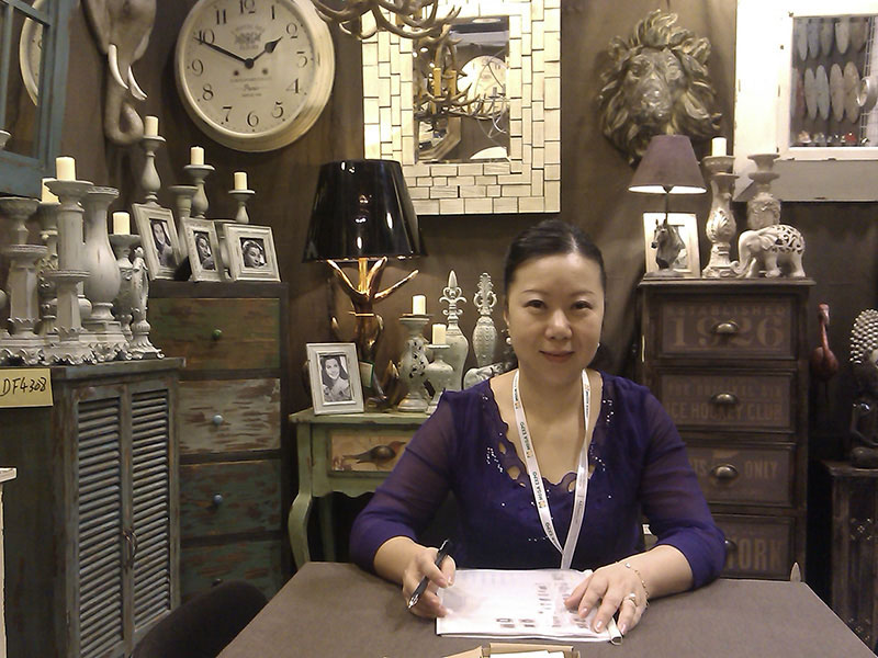 retro wooden furniture in Hongkong Mega Show
