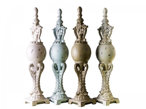 polyresin fire finials